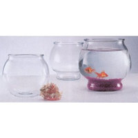 Anchor Hocking Footed Glass Round Fish Bowl .5gal