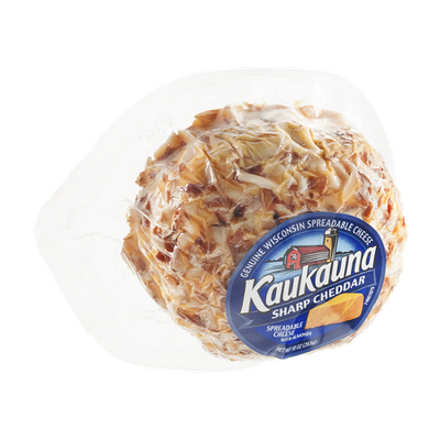 Kaukauna Wisconsin Spreadable Cheese Ball with Almonds Sharp Cheddar