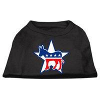 Mirage Pet Products 517601 XXXLBK Democrat Screen Print Shirts Black XXXL 20