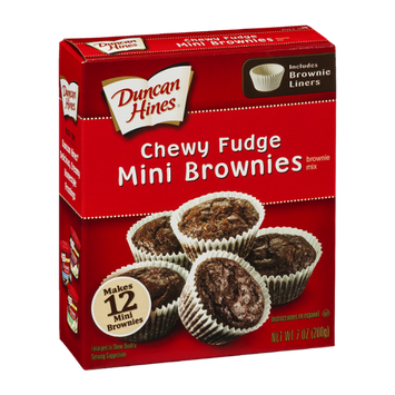 Duncan Hines Chewy Fudge Mini Brownies