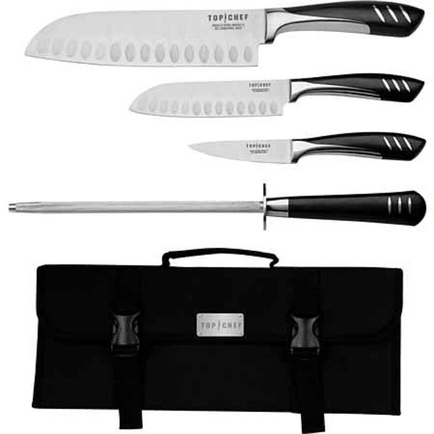 Top Chef 5 Piece Stainless Steel Knife Set - Portable, 1 ea