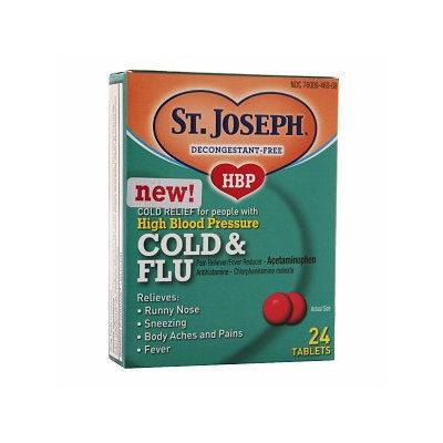 St. Joseph High Blood Pressure Cold & Flu Tablets