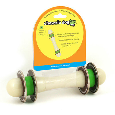 Chewzie Dog Large Barbell Dog Toy
