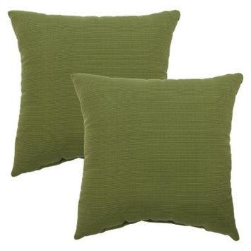 Threshold 2-Piece Square Outdoor Toss Pillow Set - Green