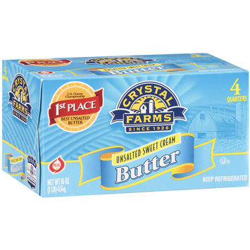 Crystal Farms Unsalted Butter Quarters, 16 oz