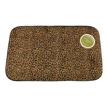Carnation Home Fashions BM-FF/LEO Leopard Faux Fur Bath Mat Size 20-Inch X 31-Inch