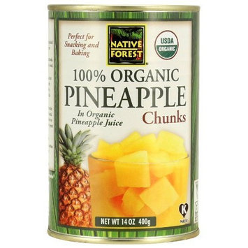 Native Forest Organic Pineapple Chunks, 14-Ounce Cans (Pack of 6)