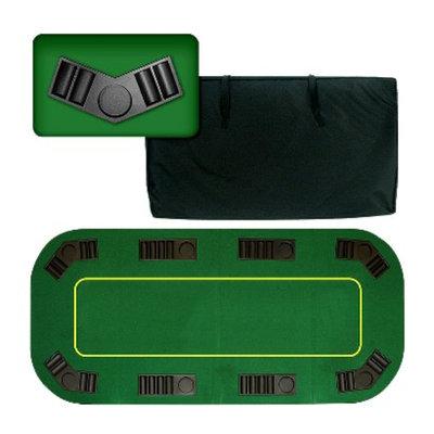 Trademark Global Deluxe Texas Holdem Folding Poke Game Tabletop - 80