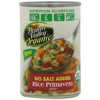 Health Valley Organic Rice Primavera Soup, No Salt Added, 15-Ounce Cans (Pack of 12)