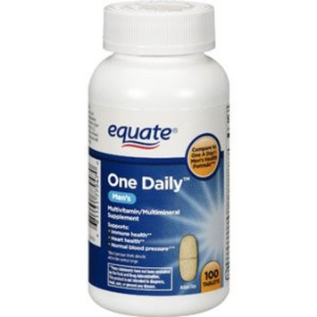 Mars Snackfood Us Equate One Daily Men's Multivitamin Multimineral Supplement, 100 Tablets