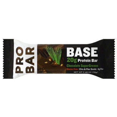 ProBar Base Chocolate SuperGreens 20g Protein Bar, 2.46 oz, (Pack of 12)