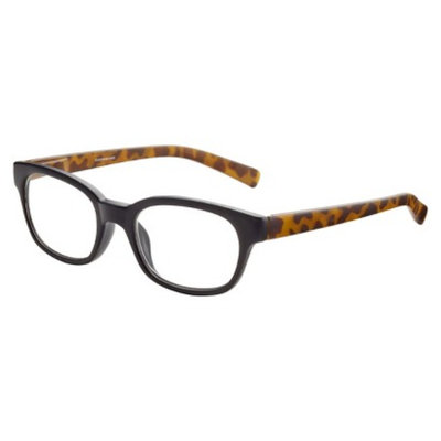 ICU Eyewear ICU Matte Black with Tortoise Temples Reading Glasses With Case - +2.5
