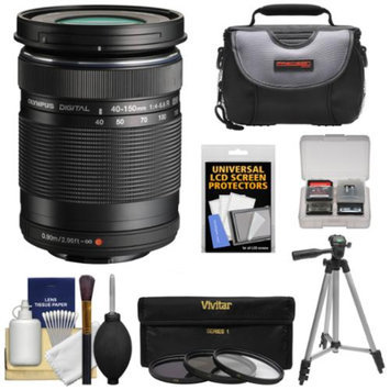 Olympus M.Zuiko 40-150mm f/4.0-5.6 R Micro ED Digital Zoom Lens (Black) with UV/CPL/ND8 Filter Set + Case + Tripod + Kit for OM-D E-M5, E-M1, E-M10, Pen E-P5, E-PL3, E-PL5, E-PM2 Cameras
