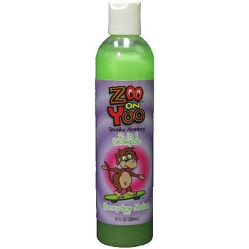 Zoo On Yoo Spunky Monkey 2 in 1 Kid's Shampoo - Honey Dew Melon 10 Oz