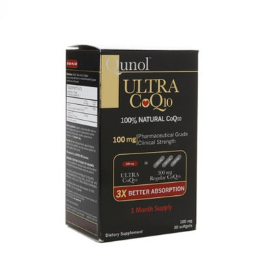 Qunol Ultra 100 mg CoQ10 Dietary Supplement Softgels