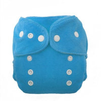 Thirsties Duo Fab Fitted Snap Cloth Diapers, Ocean Blue, Size Two (18-40 lbs)