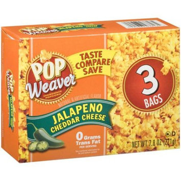 Pop Weaver Jalapeno Cheddar Cheese Microwave Popcorn, 3 count, 7.8 oz