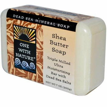 One With Nature Dead Sea Mineral Shea Butter Soap 7 oz