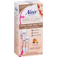 Nair Brazilian Spa Clay Total Care Face Trio Hair Remover Kit