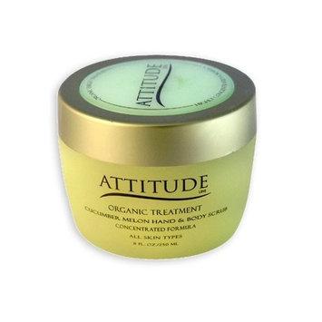 Attitude Line Organic Hand Scrub (Cucumber Melon), 8-Ounce