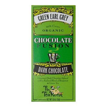 The Tea Room - Organic Chocolate Fusion Bar 60% Cacao Dark Chocolate Green Earl Grey - 1.8 oz.