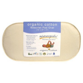 Foam Mattress: Naturepedic Organic Cotton Oval Bassinet Mattress