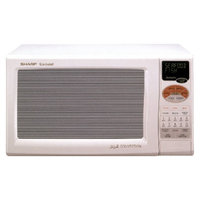 Sharp 0.9 Cu. Ft. 900W Grill 2 Convection Microwave Oven - White