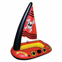 Poolmaster Pirate Boat With Sail - Red