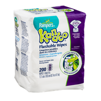 Pampers Kandoo Flushable Wipes - 200 CT
