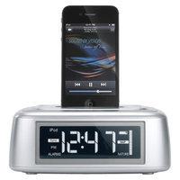 Capello Clock Radio with iPhone Dock - Silver (Ci201)