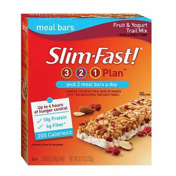 Slim-Fast 3-2-1 Plan 200 Calorie Meal Bars 5-Pack Fruit & Yogurt