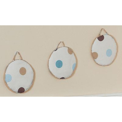 Sweet Jojo Designs Mod Dots Blue Collection Wall Hangings