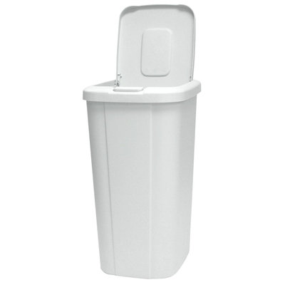 Hms Manufacturing HMS MFG. CO. 53 Quart Wastebasket With Touch Lid White - HMS MFG. CO.