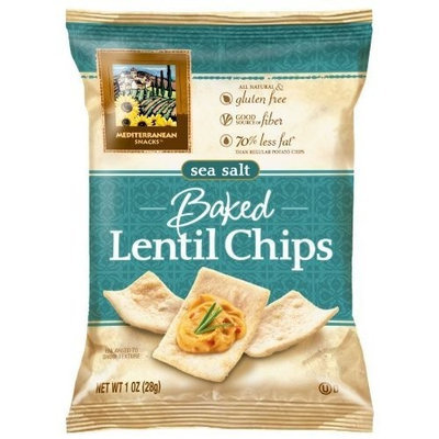 Mediterranean Snacks Sea Salt Baked Lentil Chips