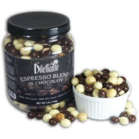 Chocolate Espresso Bean Blend - White, Milk & Dark Chocolate - 3lb Jar - by Dilettante