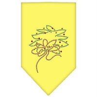 Mirage Pet Products 67-25-16 SMYW Wreath Rhinestone Bandana Yellow Small