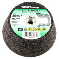 Forney 72374 Grinding Cup Wheel Type 11 Flared Masonry with 5/8-Inch-11 Threaded Arbor C16 5-Inch-by