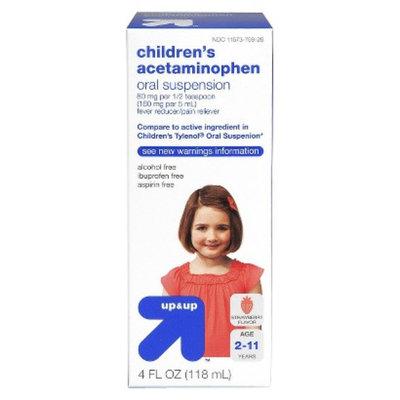 up & up Up & Up Children's Acetaminophen Oral Suspension - 4 fl. Oz.