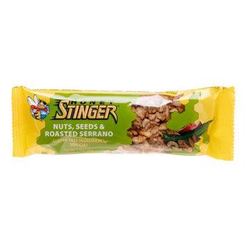 Honey Stinger Nuts, Seeds and Roasted Serrano Snack Bar - Box of 15 - nuts, seeds & roasted serrano, box of 15