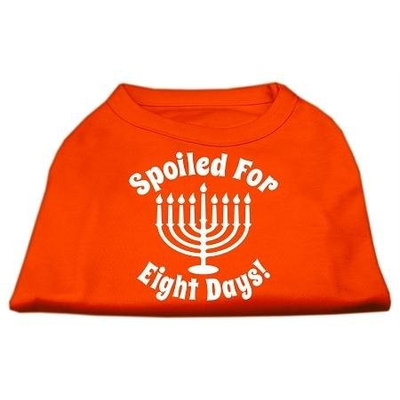 Ahi Spoiled for 8 Days Screenprint Dog Shirt Orange XXXL (20)