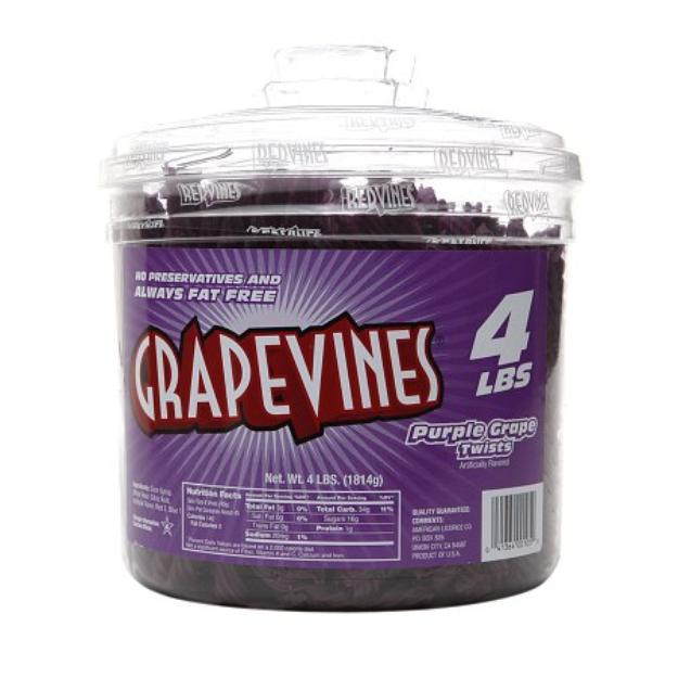 Red Vines Grape Vines Jar, Grape, 64 oz
