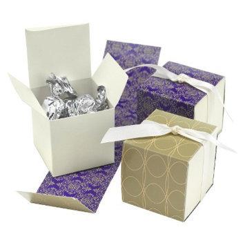 Hortense B. Hewitt Damask Wrap Favor Boxes - Purple