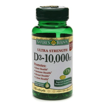 Nature's Bounty Ultra Strength Vitamin D-3 10