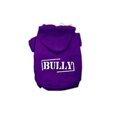 Mirage Pet Products Bully Screen Printed Pet Hoodies Purple Size Lg (14)