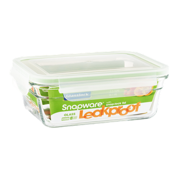 Snapware Glasslock Leakproof Container with Lid 3.5 Cup
