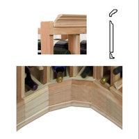Wine Cellar Innovations Molding for Curved Corner w JD Crown (Prime Mahogany - Dark Walnut Stain)