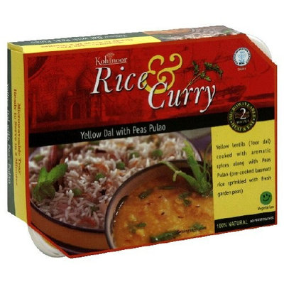 Kohinoor Entree, Yellow Dal with Peas Pulao, 12.3-Ounce (Pack of 6)