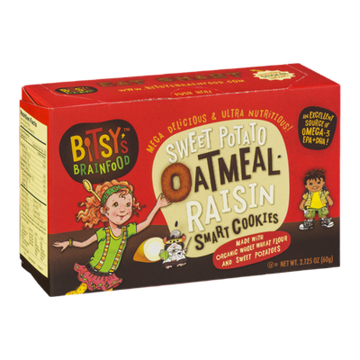 Bitsy's Brainfood Sweet Potato Oatmeal Raisin Smart Cookies