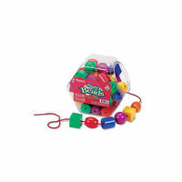 Learning Resources Plastic Lacing Beads, Set of 48