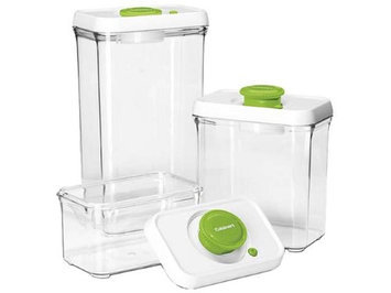 Cuisinart CFS-TC-S6G Fresh Edge Patented Vacuum-Seal Food Storage System, Green